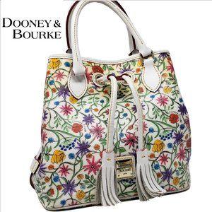 DOONEY & BOURKE Floral & White Leather Drawstring